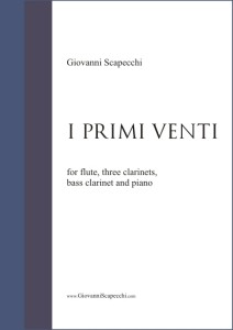 I primi venti (2001) for flute, three clarinets, bass clarinet and piano