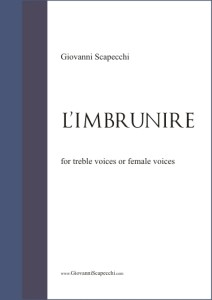 L'imbrunire (2003) for treble voices or female voices