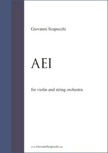 Aei (2004) for violin and string orchestra