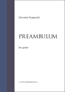 Preambulum (2012) for guitar